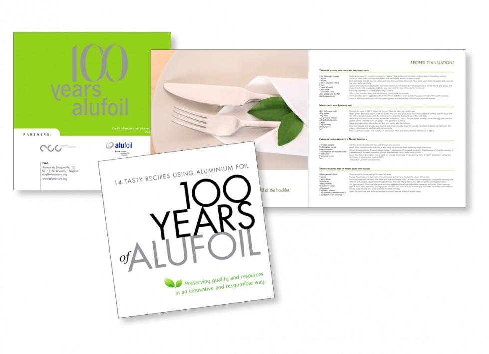 Livre de recettes pour ALUFOIL, l'European Aluminium Foil Association.