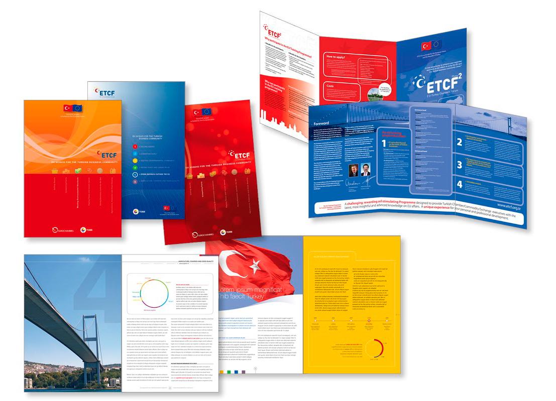 Brochures et dépliants pour le lobby favorable à l'accession de la Turquie à l'Union européenne.