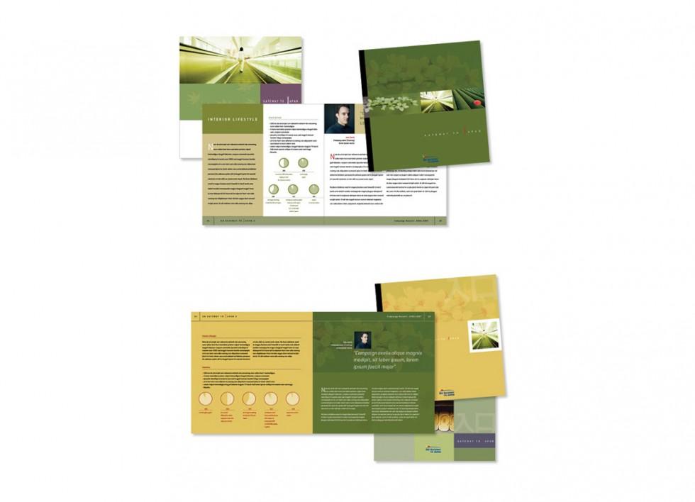 Projet de brochure pour la chambre de commerce Europe-Japon;
