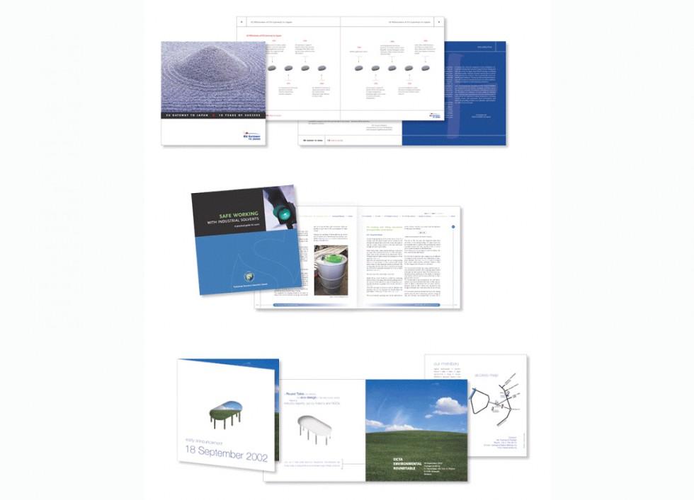 Brochure pour EUROCHAMBES, ESIG et une roundtable EICTA.