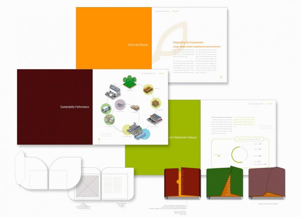 Projet de plaquette de présentation pour la Confédération Européenne de l'Industrie du Papier (CEPI)