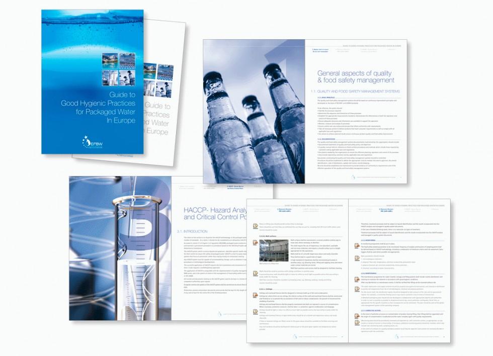 """""""Guide des bonnes pratiques"""" pour EFBW (European Federation of Bottled Waters)."""