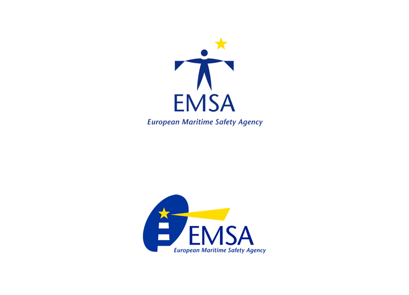 Propositions de logo pour l'Agence Européenne de Sécurité Maritime.
