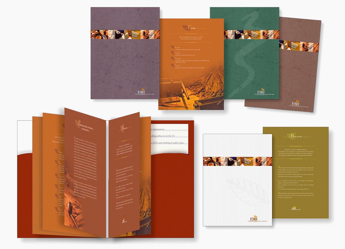 Brochures pour ESTA (European Smoking Tobacco Association).