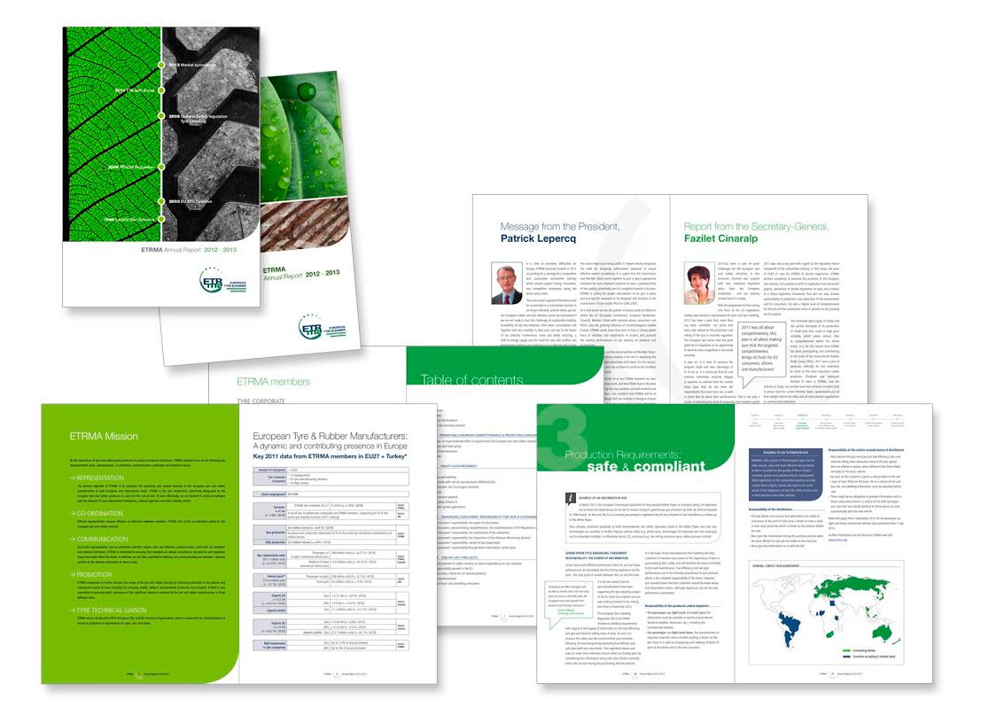 Rapport annuel pour ETRMA, la European Tyre & Rubber Manufacturers' Association.