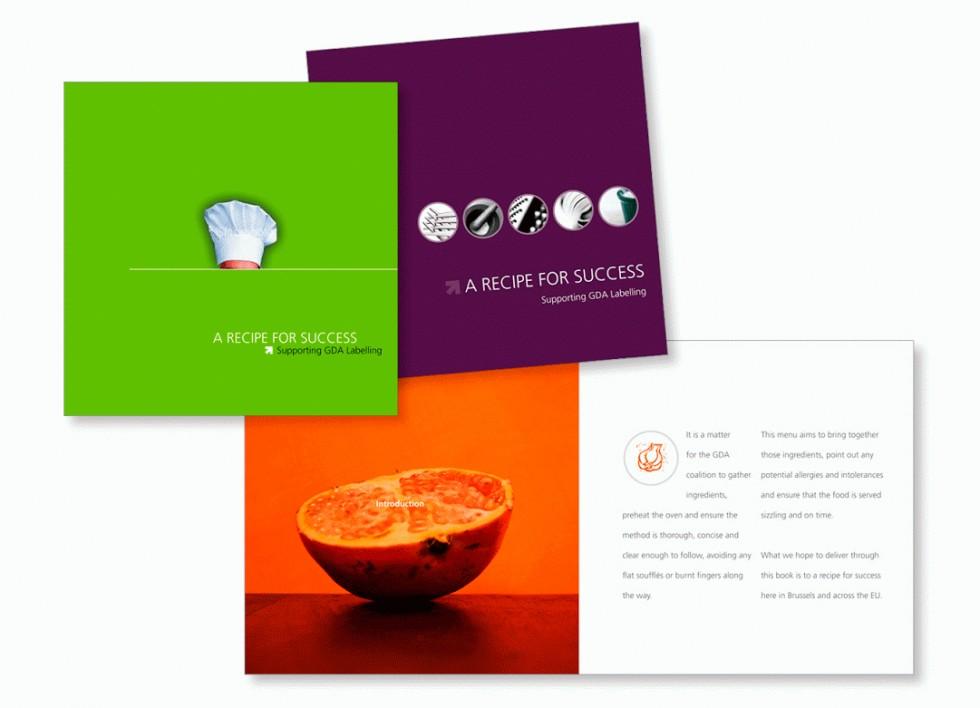 Proposition de brochure sur les GDA (Guideline Daily Amounts, ou Repères Nutritionnels Journaliers).