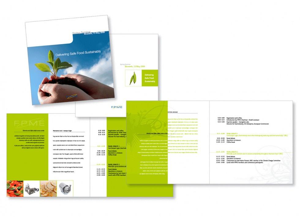 Programme pour un séminaire organisé par la FPME (Food Processing Machinery Europe).