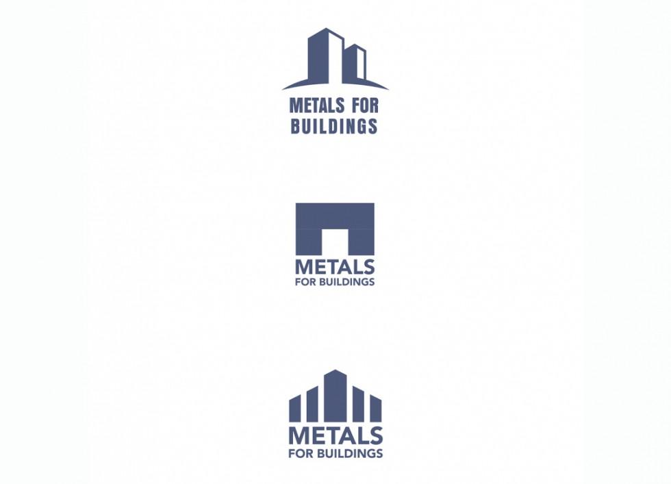 Propositions de logo pour l'association européenne et internationale des producteurs de métal, active dans le secteur de la construction.