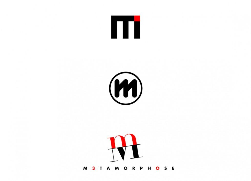 Projets de logo pour la galerie d'art METAMORPHOSE