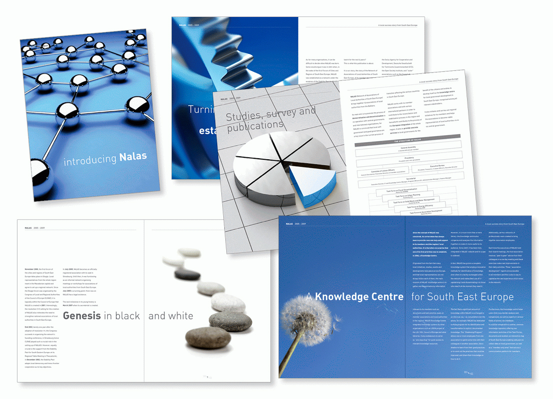 Brochure pour NALAS (Network of Associations of Local Authorities of South-East Europe).