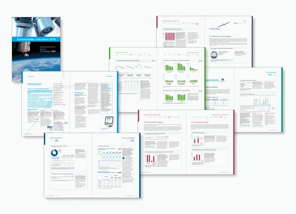"""SOLVAY Rapport """"durabilité"""""""