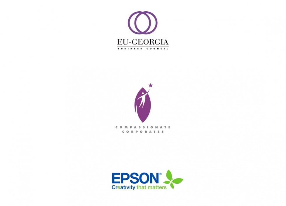 Logo pour le Conseil Europe-Géorgie, un label d'entreprise et un fabricant de périphériques informatiques.