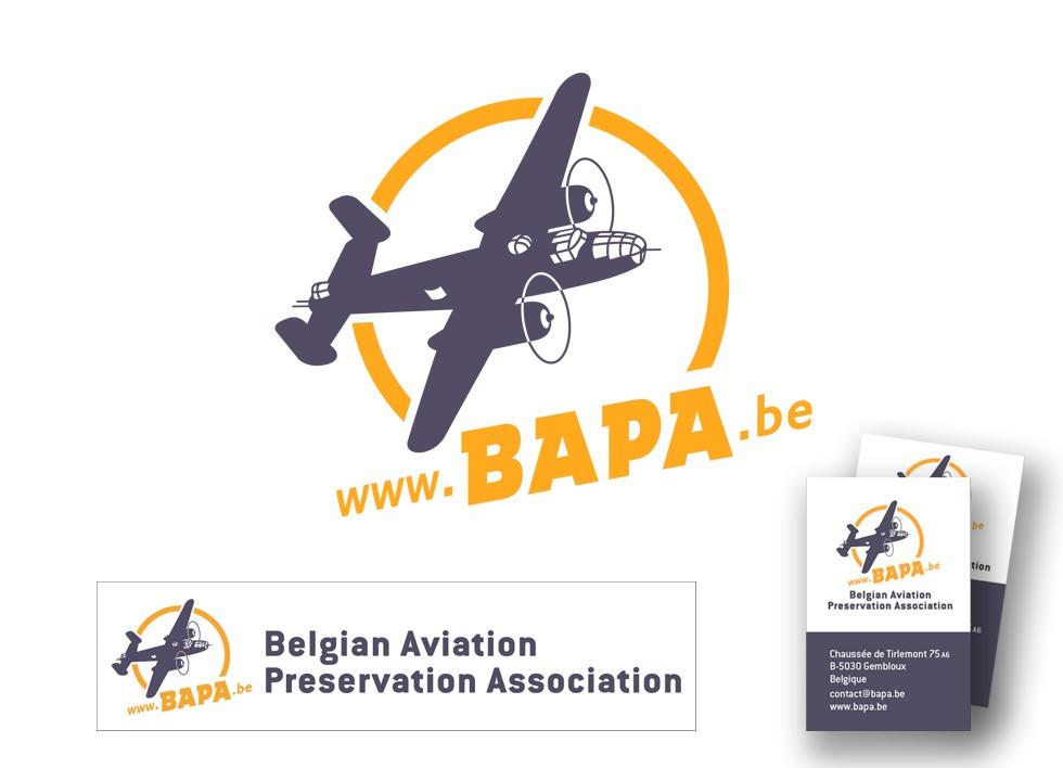 Logo de la Belgian Aviation Preservation Association.
