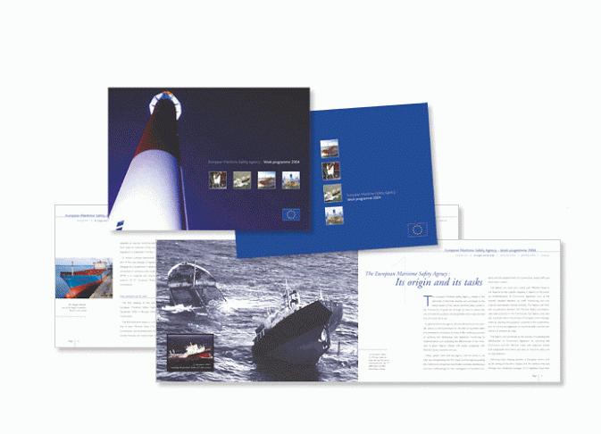 Brochure pour l'Agence Européenne de Sécurité Maritime.