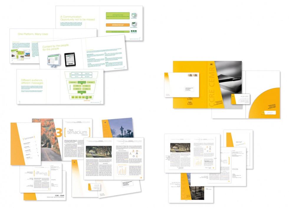 Brochure pour EURIMA (European Insulation Manufacturers Association). CCRE (Conseil des Communes et Régions d'Europe): guide-line, fardes à rabats et publications variées.