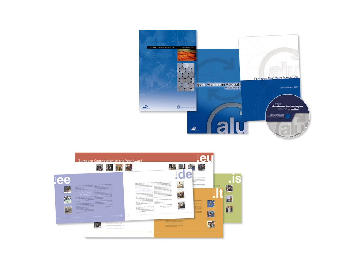 EAA (European Aluminium Association): brochureet habillage DVD. EUROPEAN MOVEMENT: brochure.