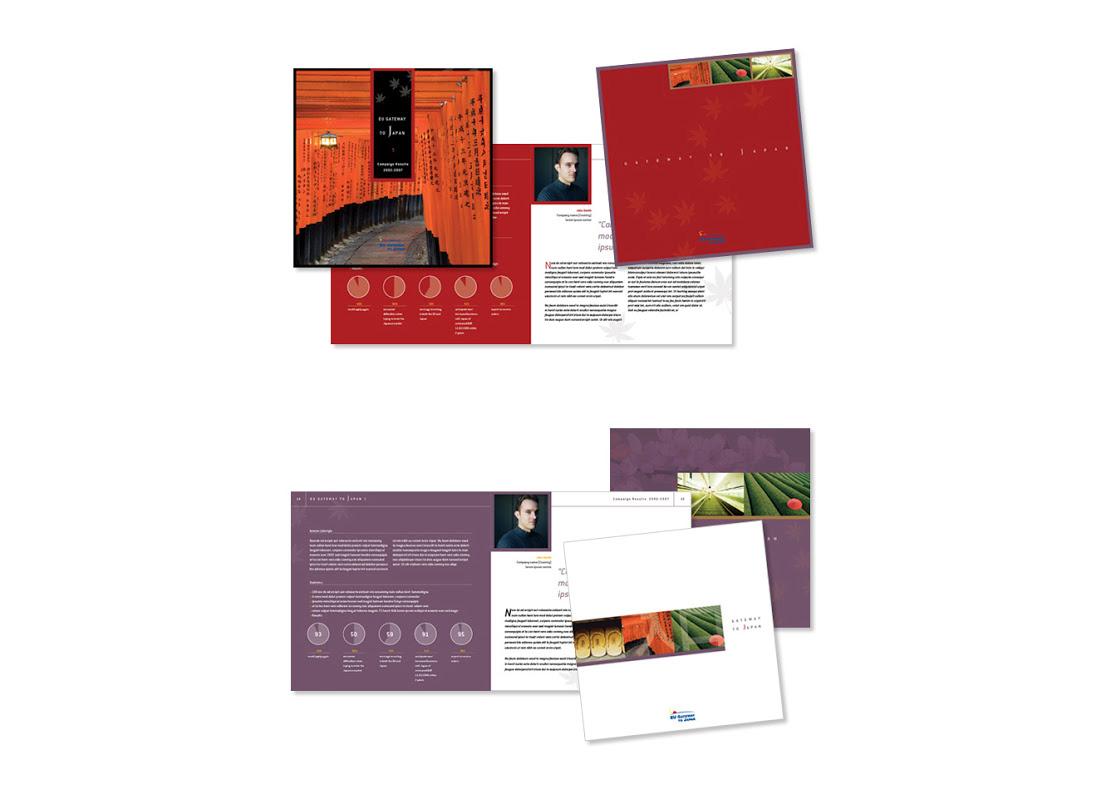 Projet de brochure pour la chambre de commerce Europe-Japon.