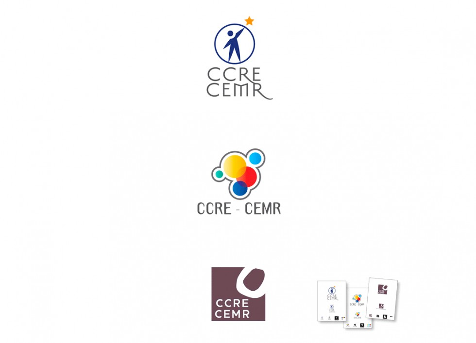 Propositions de logo pour le Conseil des Communes et des Régions d'Europe.