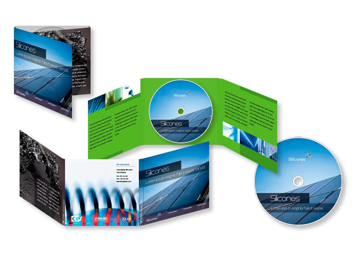 Habillage de DVD pour CES, organisation qui représentant les principaux producteurs de silicone en Europe.