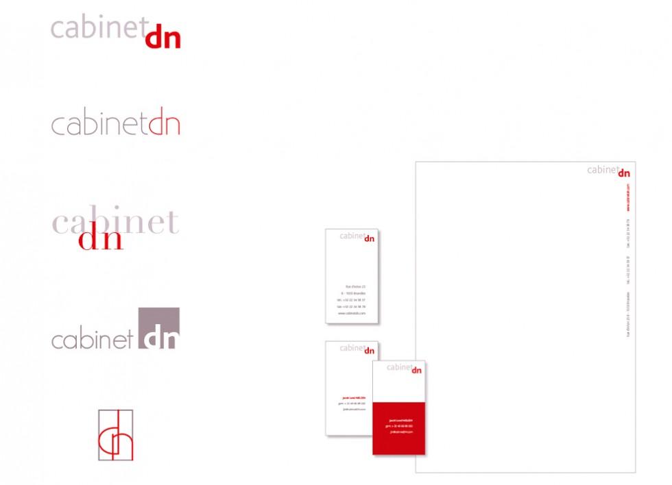 Projets de logo et papeterie pour un cabinet d'avocats.