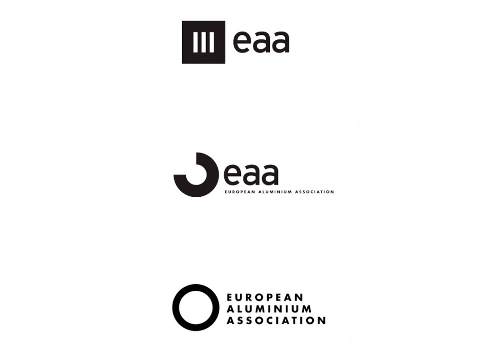 Propositions de logo pour la European Aluminium Association.