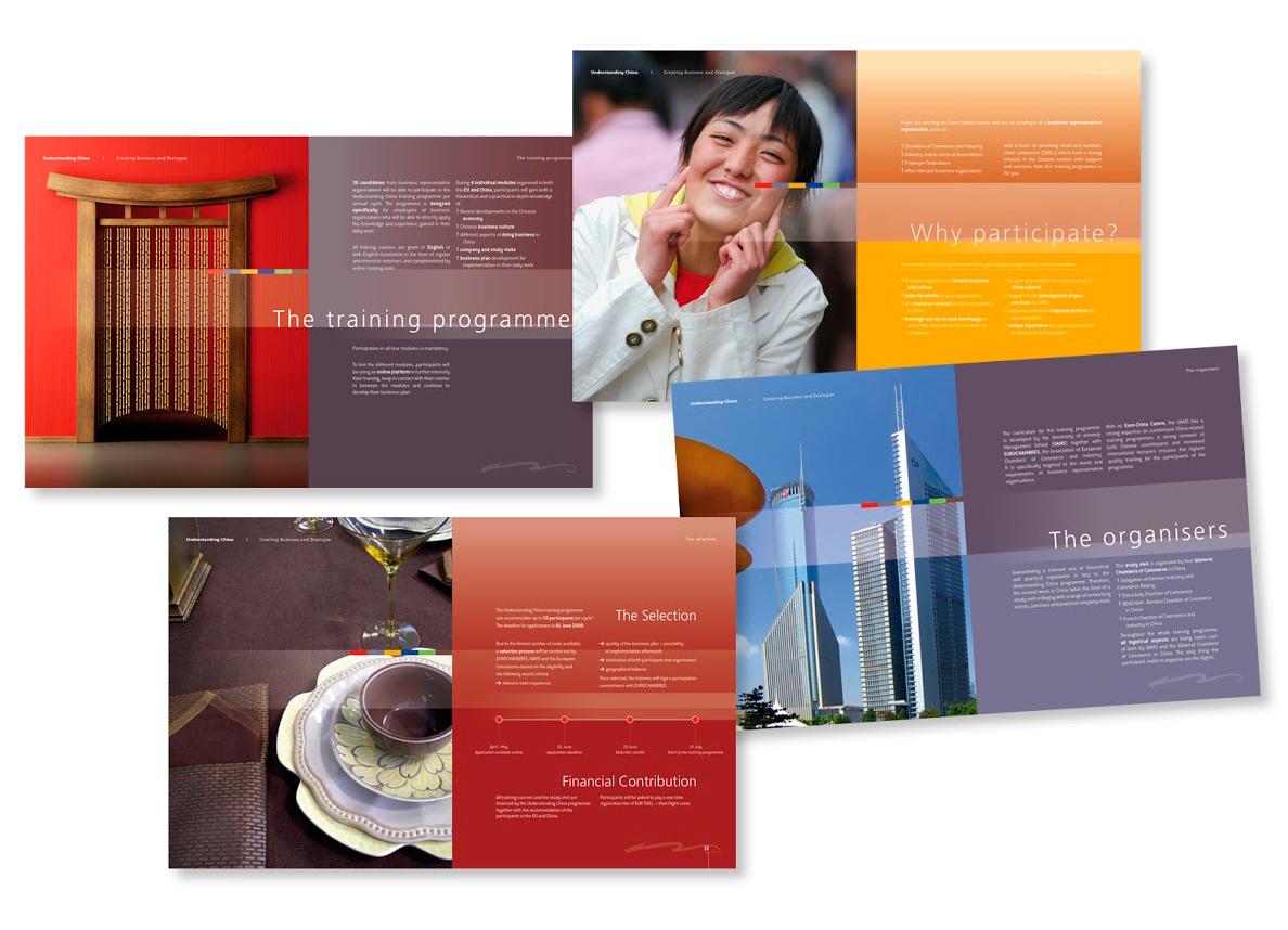 Brochure pour un programme organisé par la chambre de commerce Europe-Chine.