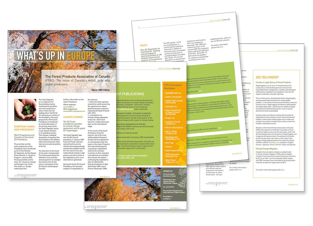 Bulletin d'information de l'Association Canadienne des Exploitants des Produits Forestiers (FPAC, The Forest Products Association of Canada).