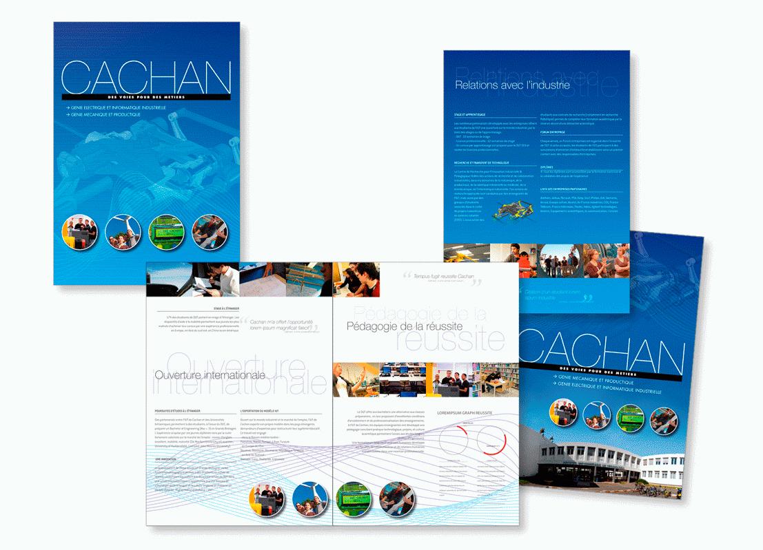 Plaquette de présentation pour l'IUT Cachan à Paris.