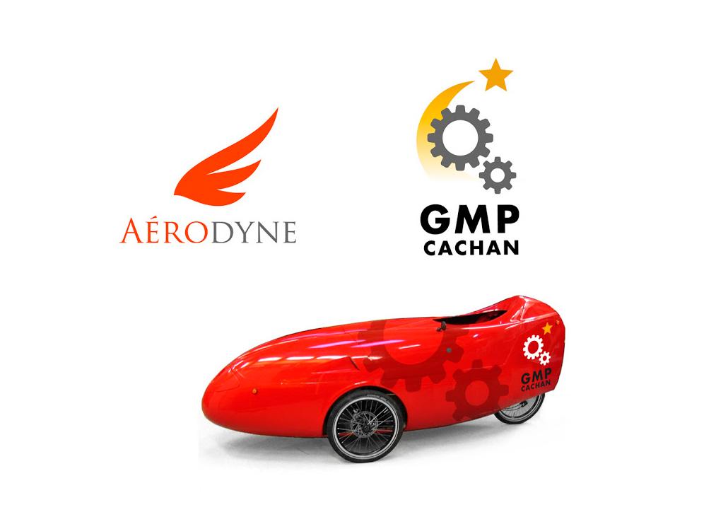 Logos pour AERODYNE (Association d'Etudes & Réalisations en Optimisation Dynamique & Energétique) et le Groupe Moteur et Propulsion de l'IUT de Cachan à Paris.