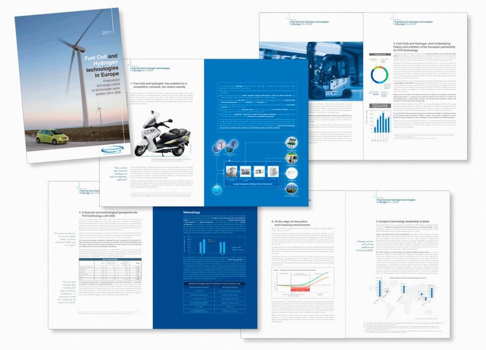 Brochure pour l'association européenne de promotion des technologie des piles à combustible.