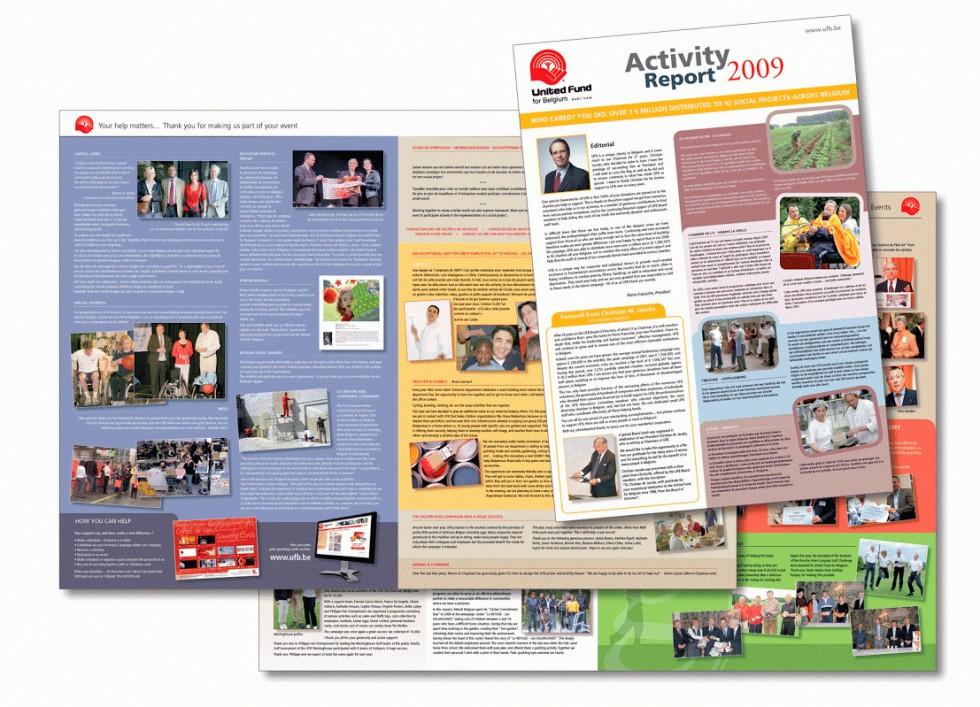 Rapport d'activité pour la United Fund of Belgium.