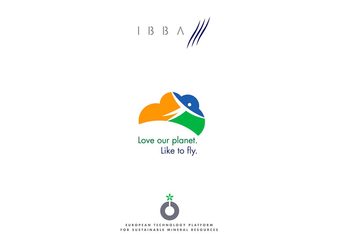 Logo pour la Chambre de Commerce Belgo-Irlandaise, Air Transport Action Group (ATAG) et la European Technology Platform for Sustainable Mineral Resources.