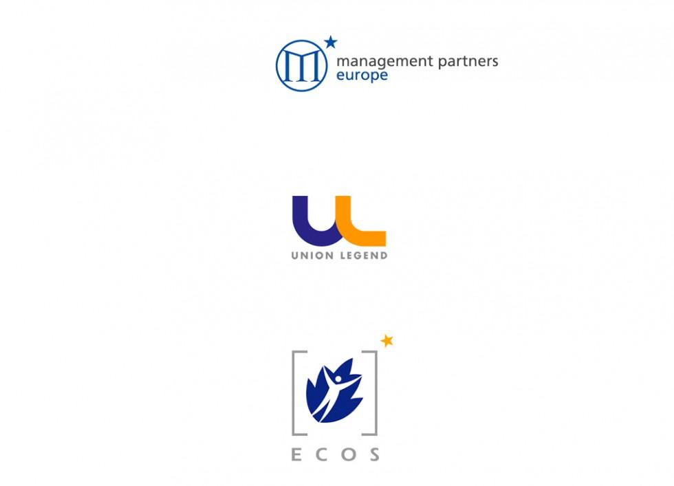 Logo pour une société de Conseil en affaires, pour un bureau de représentation et pour la European Environmental Citizens' Organisation for Standardisation.