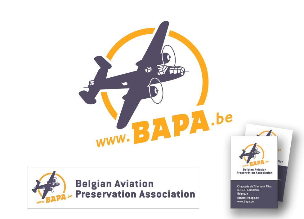 Logo de la Belgian Aviation Preservation Association.